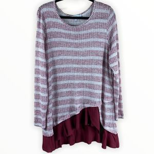 Fever Long Sleeve Knit Tunic Top